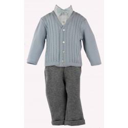 completo in felpa da bambino con maglia