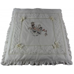 velour blanket with print